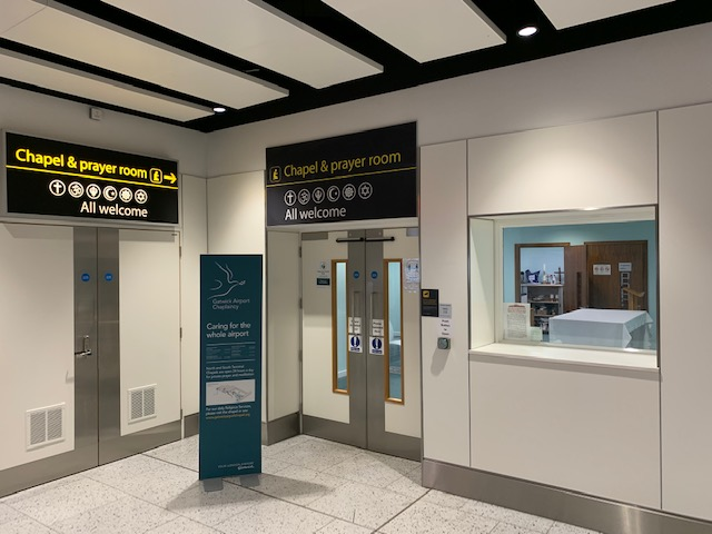 North Terminal chapel Entry signage
