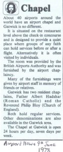 1978 Airport News cutting