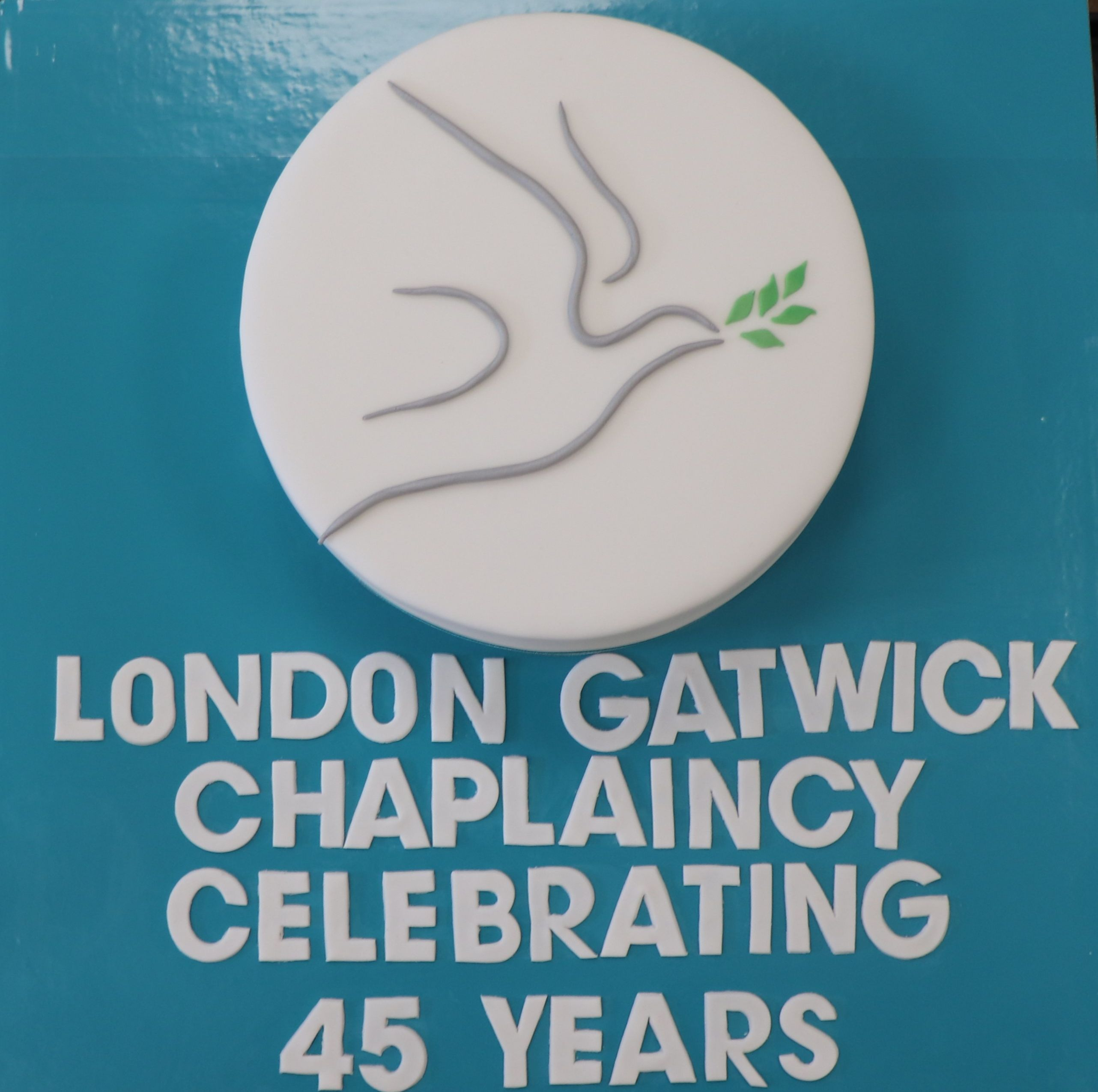 45th Anniversary cake with Chaplaincy logo