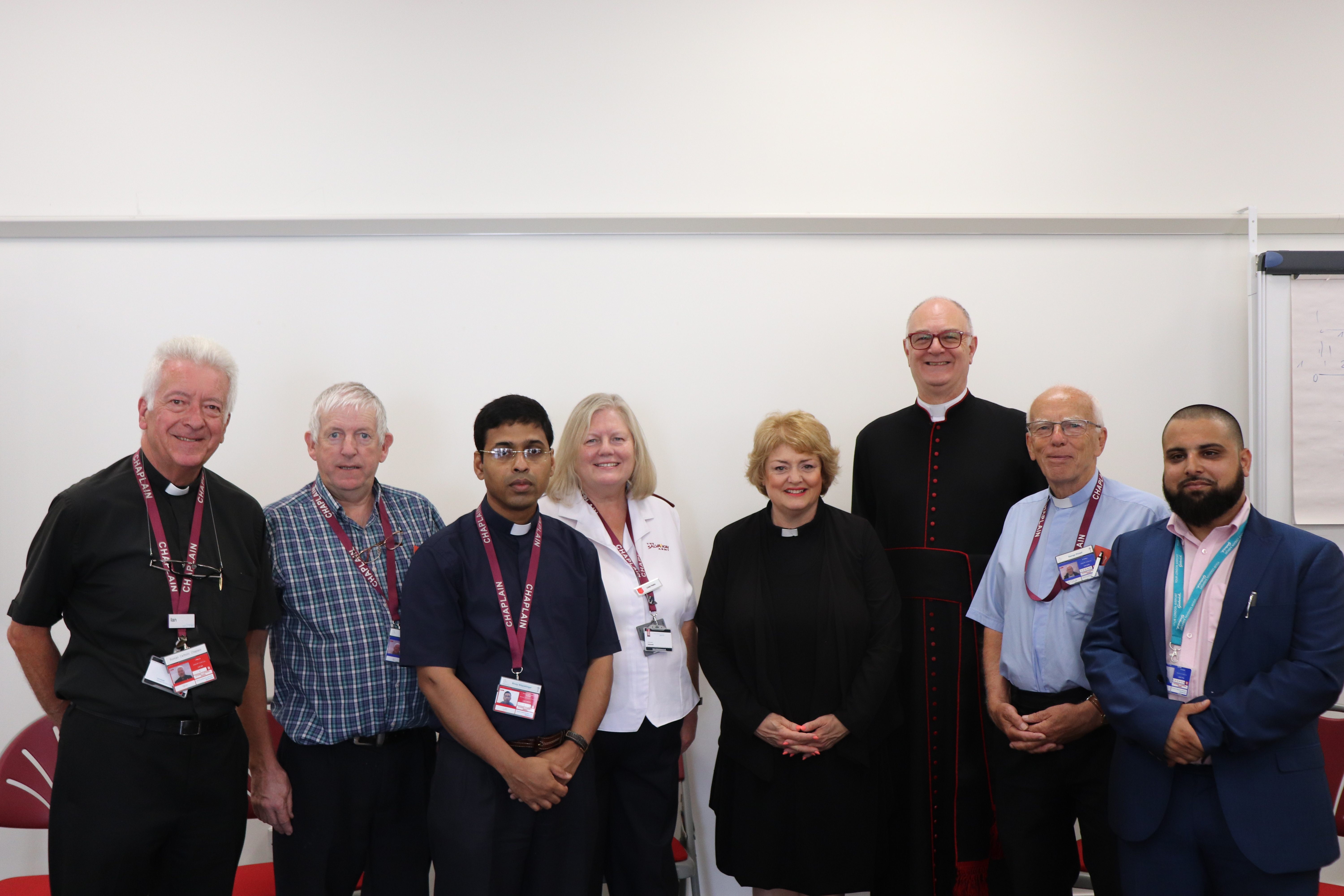 Multi-faith Chaplaincy team at 45th Anniversary luncheon